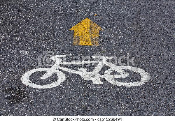 Bicycle lane in public park - csp15266494
