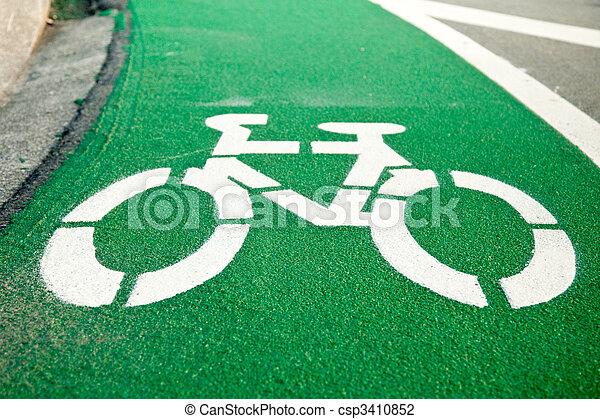 Bicycle lane - csp3410852