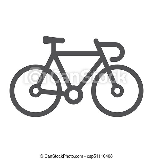 bicycle line icon transport and vehicle bike sign vector vector rh canstockphoto com bike victoria bc bike vector free