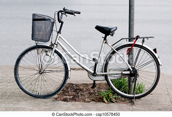 Bicycle on parking - csp10578450