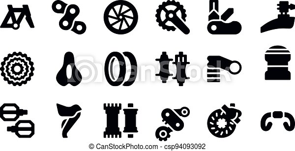 Bicycle Parts icons vector design - csp94093092