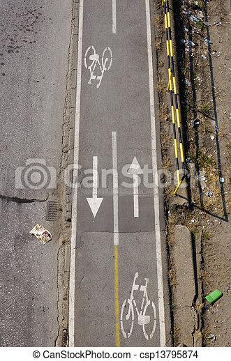 Bicycle path - csp13795874