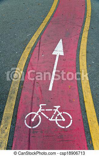Bicycle path - csp18906713