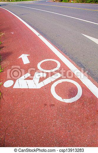 Bicycle path - csp13913283