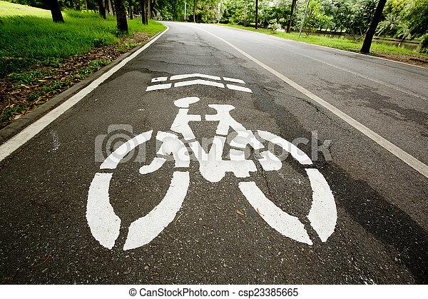 Bicycle path - csp23385665
