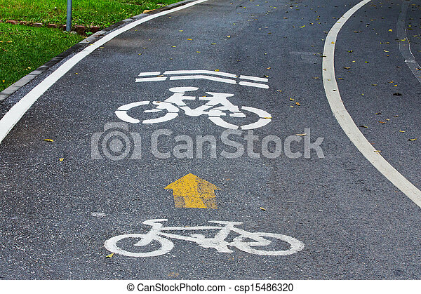 Bicycle path - csp15486320