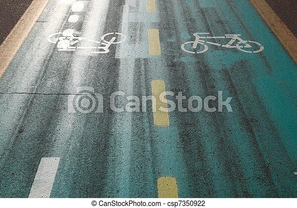 Bicycle path - csp7350922