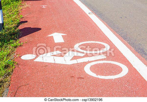 Bicycle path - csp13902196