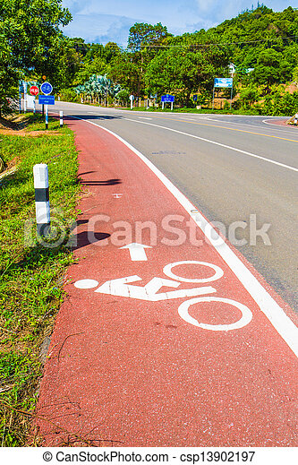 Bicycle path - csp13902197