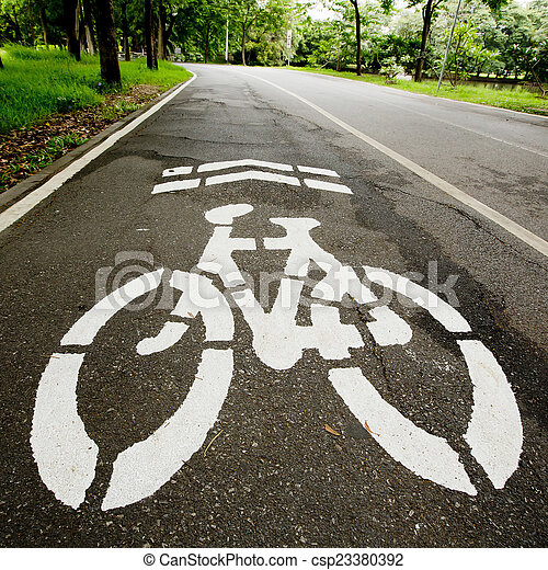 Bicycle path - csp23380392