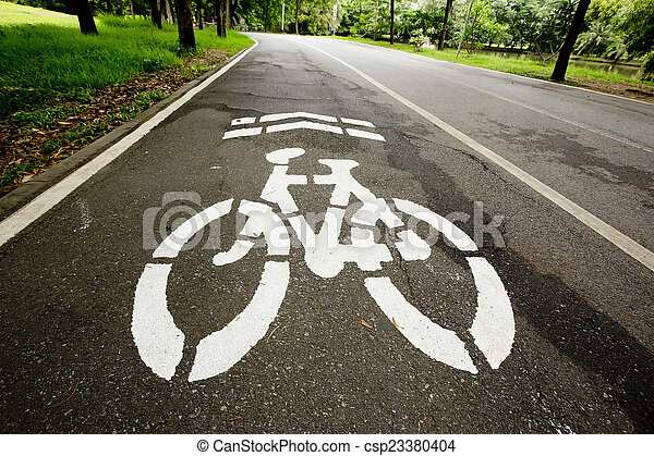Bicycle path - csp23380404