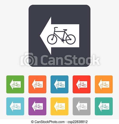 Bicycle path trail sign icon. Cycle path. - csp22838812