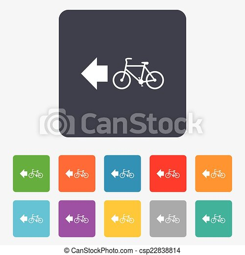Bicycle path trail sign icon. Cycle path. - csp22838814
