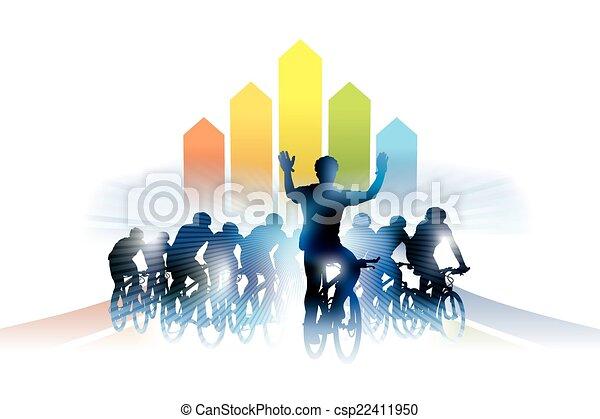 Bicycle race - csp22411950