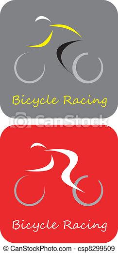 Bicycle Racing - vector icon - csp8299509