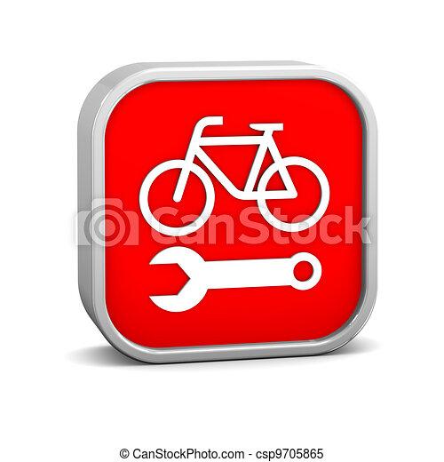 Bicycle repair sign - csp9705865