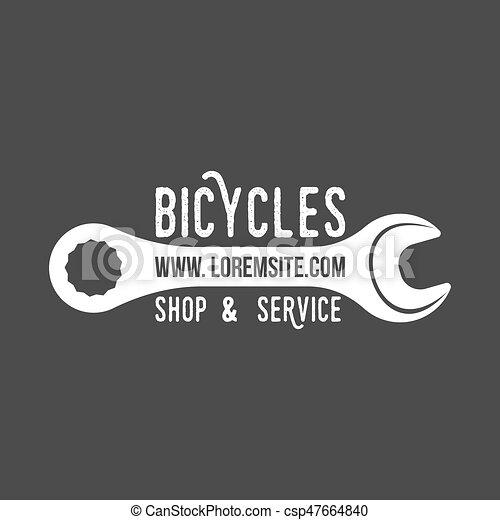 bicycle retro badge - csp47664840