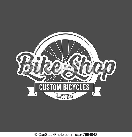 bicycle retro badge - csp47664842
