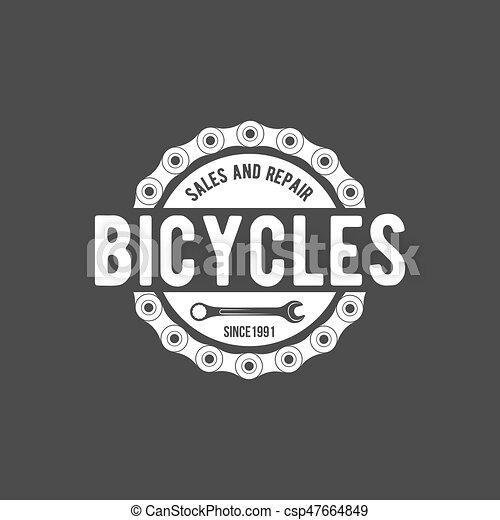 bicycle retro badge - csp47664849