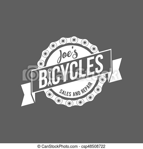 bicycle retro badge - csp48508722