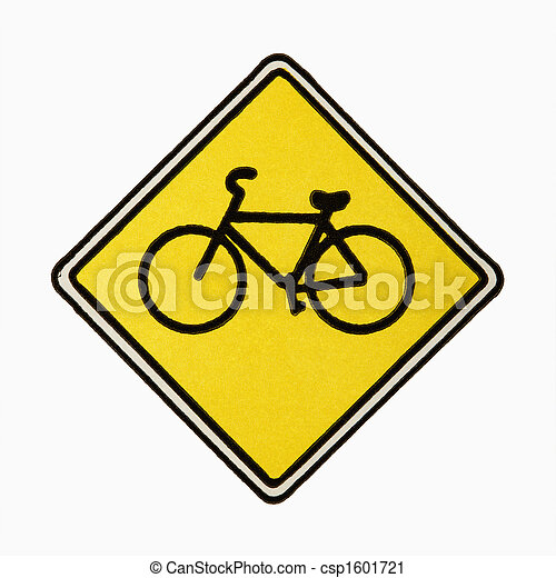 Bicycle road sign. - csp1601721