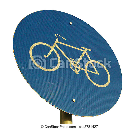 Bicycle road sign - csp3781427