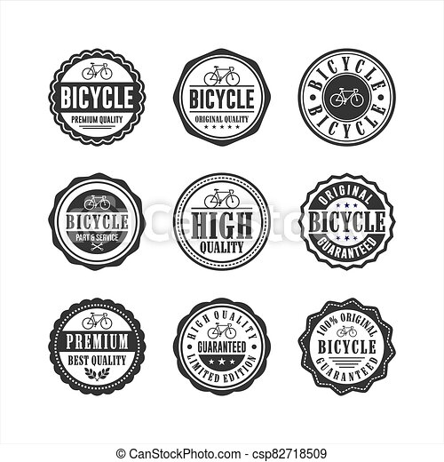 Bicycle shop service Badge Stamp Collection - csp82718509