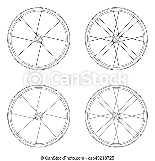 Wheel With Spokes Clipart   Free Images at Clker.com - vector clip art  online, royalty free & public domain