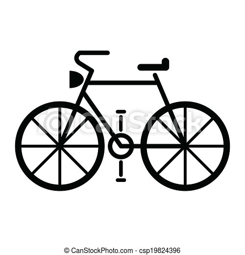 bicycle symbol vector - csp19824396