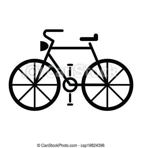 bicycle symbol vector - csp19824396