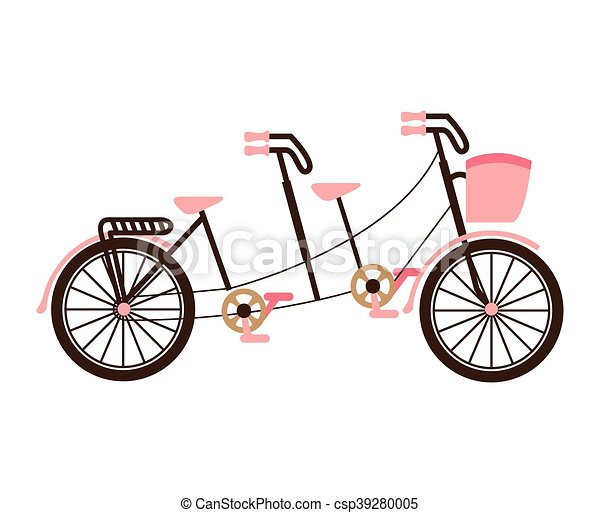 bicycle tandem love isolated icon vector illustration design vector rh canstockphoto com tandem bicycle clipart tandem bike clipart free