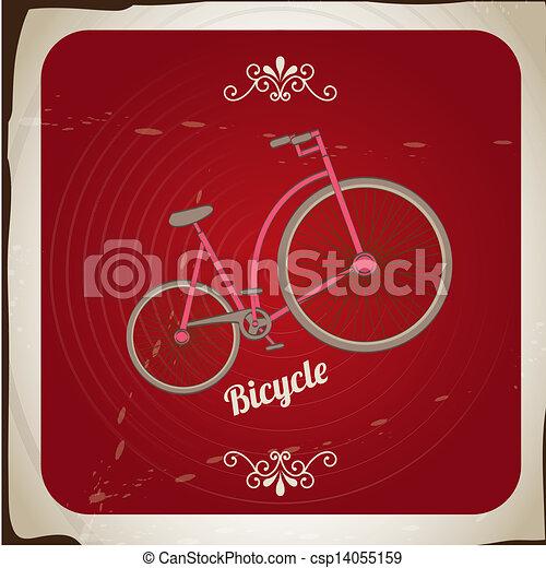 bicycle vintage - csp14055159
