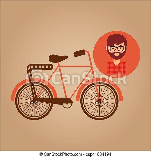 bicycle vintage icon retro background design - csp41884194