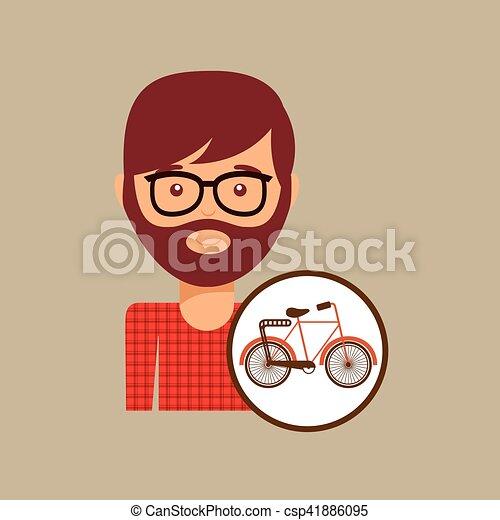 bicycle vintage icon retro background design - csp41886095