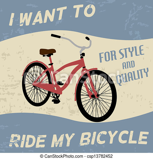 Bicycle vintage poster - csp13782452