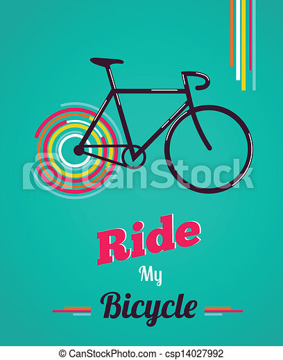 Bicycle vintage style poster - csp14027992