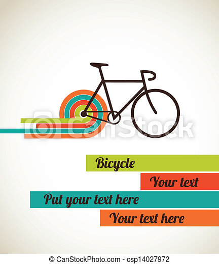 Bicycle vintage style poster - csp14027972