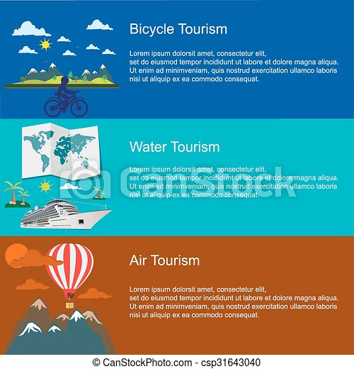 bicycle water  air tourism concepts - csp31643040