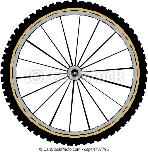 Bicycle wheel, vector  - csp14707795
