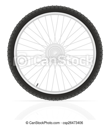 bicycle wheel vector illustration - csp26473406