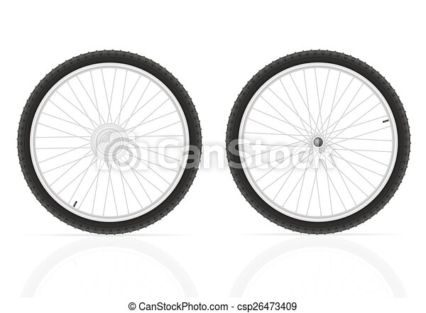 bicycle wheel vector illustration - csp26473409