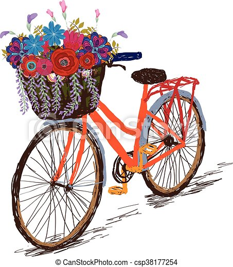 Bicycle with a basket full - csp38177254