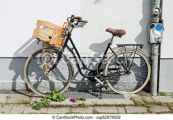 Bicycle With Wooden Box