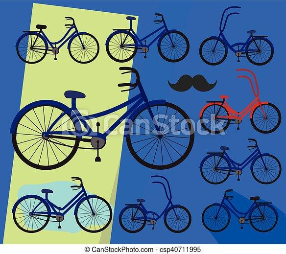 bicycles, マレ, デザイン, 女性 - csp40711995