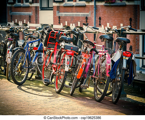 Bicycles in Amsterdam - csp19625386