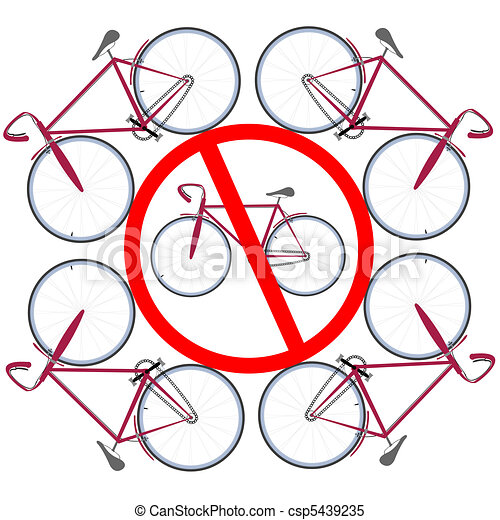bicycles not allowed here - csp5439235