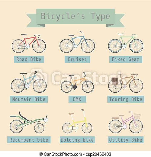 bicycle's type - csp20462403