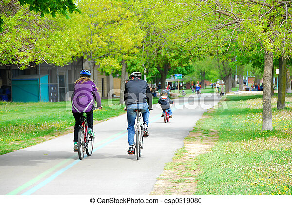 Bicycling in a park - csp0319080