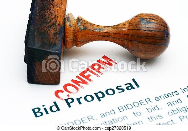Bid proposal - confirm - csp27320519