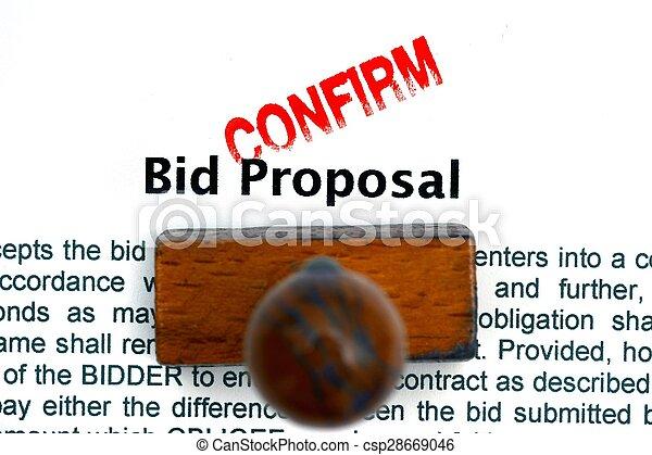 Bid proposal confirm - csp28669046